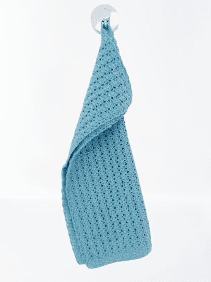 Handdoekje van katoen in licht turquoise