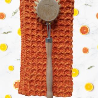 Huishouddoekje van katoen in oranje