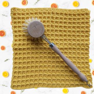 Huishouddoekje van 100% biologisch katoen in geel